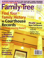 Family Tree Magazine Photoshop Article Cover