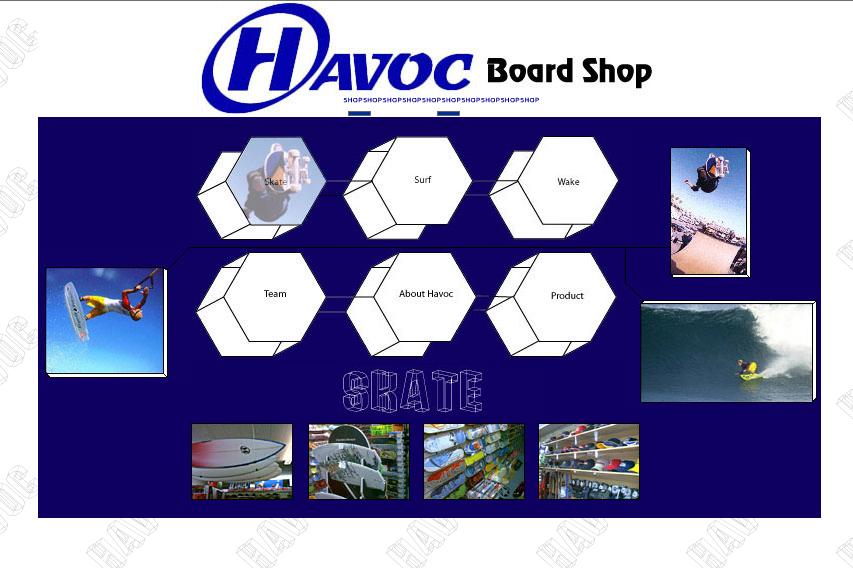 Havoc Board Shop Website Design and Coding