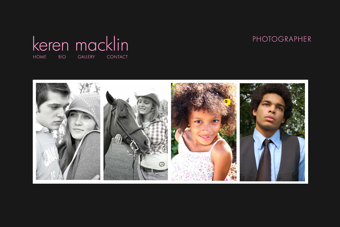 Keren Macklin Photographer Website Design and Coding