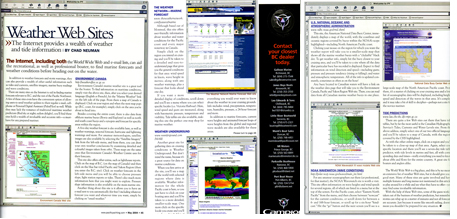 Weather Websites in Pacific Yachting Magazine